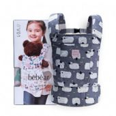 Bebamour Cotton Baby Doll Carriers per ragazze Baby Doll Accessori Kids Toys Doll Carry Bag 3 in 1 Baby Doll Carrier Sling Baby Doll Carrier Doodles (Grigio)