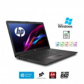"Hp 255 G7 Notebook hp Display da 15.6"" Fino A 2.60GHz,Ram 4Gb Ddr4 SSd M.2 256 Gb,Radeon R3,Pc portatile Hp,Hdmi,DVD,Cd RW,Wi fi,Bluetooth,Windows 10 professional"