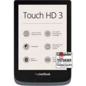 PocketBook e-Book Reader 'Touch HD 3' (16 GB di Memoria; 15,24 cm (6 Pollici) E-Ink Carta; SMARTlight; Wi-Fi; Bluetooth) in Argento